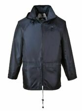 PORTWEST BLACK CLASSIC RAIN JACKET WATERPROOF DURABLE SEALED SEAMS S-6XL US440