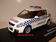 J-COLLECTION JC157 SUZUKI SWIFT SPORT AUSTRALIA MELBOURNE POLICE 2010  au 1/43°