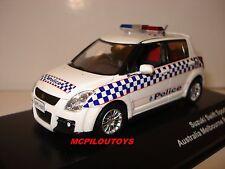 J-COLLECTION JC157 SUZUKI SWIFT SPORT AUSTRALIA MELBOURNE POLICE 2010  au 1/43°