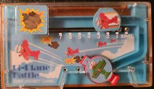Vintage 1978 Bi-Plane Battle Tomy Pocket Game Hong Kong Handheld WORKS 100%!!