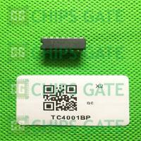 2PCS TOSHIBA TC4001BP DIP-14,QUAD 2 INPUT NOR GATE