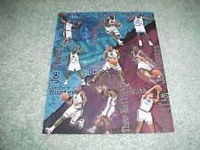 1997 Detroit Pistons Basketball Team Action Sheet with Grant Hill Joe Dumars