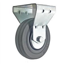 100mm Rubber Swivel Fixed Plate Caster Snack Vending Fruit Machine Castor Wheel