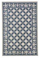 Tappeto salone cm 120 x 170 in ciniglia con antiscivolo Vietri azzurro