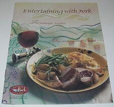COOKBOOK Recipes Entertaining with Pork & Wine Appetizer/salad/soup/main course