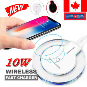 10W Max Wireless Charger/UpgradedPad /- For iPhone Xs Max XR XS X 8/8 Plus BLACK