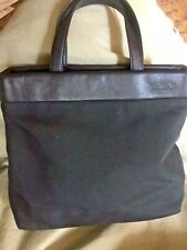 TUMI Weekender Travel Tote Satchel  Ballistic Nylon and Leather Excellent