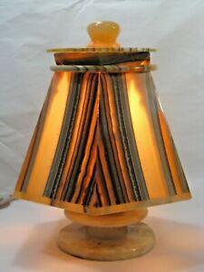 Vintage Alabaster Table Lamp - Mid Century Modern
