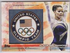 RARE 2012 TOPPS OLYMPIC ALICIA SACRAMONE USOC PIN CARD ~ GYMNASTICS