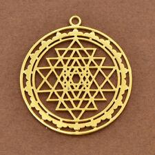 Sri Yantra Pendant Sacred Geometry Amulet Meditation Necklace Jewelry Making DIY