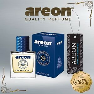 Areon Luxury Car Perfume Long Lasting Air Freshener VERANO AZUL 50ml TOP QUALITY