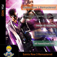 Saints Row 3 Rremastered  (PS4 Mod)-Max Money/Point/All Weapons/Upgrade