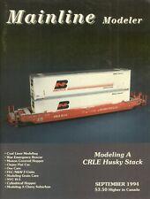 Mainline Modeler Magazine September 1994 Coal Liner Modeling, Clejan Flat Car