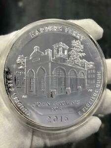 5oz Pure Silver .999 Harpers Ferry West Virginia 2016 Quarter Dollar Large Coin