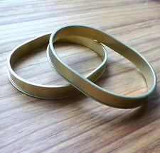 bracelet, bangle, brass OVAL channel bracelet 67mm – pack of 2