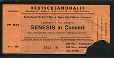 1976 Genesis concert ticket stub A Trick Of The Tail Tour Phil Collins Berlin