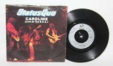 "Status Quo - Caroline (Live At The NEC) - 1982 Vinyl 7"" Single - Vertigo QUO 10"