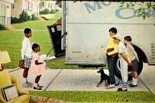 Norman Rockwell Print New Kids In The Neighborhood