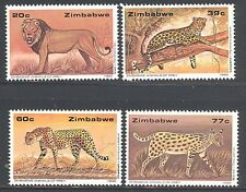 ZIMBABWE, 1992, WILDLIFE, BIG CATS, SG 822-825, MNH SET