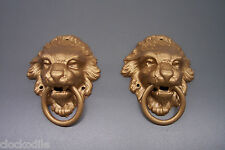 BLACK MANTLE or SHELF CLOCK LIONS HEADS - new service repair movement case parts