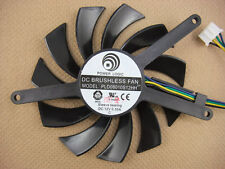 75mm MSI Video Card Fan Replacement 40mm 4Pin 3Wire PLD08010S12H 12V 0.25A R131