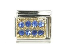 Pavé mit 8 Blauen Strass Steinen Italian Charms Modul passend für Nomination NEU