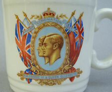 Grindley Mug UK King George VI Coronation 1937 Queen Elizabeth Mother Royal Vtg