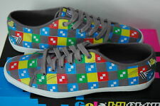 Gola Eboy Pixel Art Chaussures Homme 43 Tennis Sneaker Baskets Skate Neuf UK9