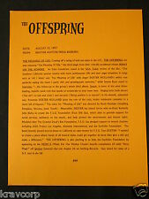 The Offspring—1997 Press Release—'Meaning Of Life Single'