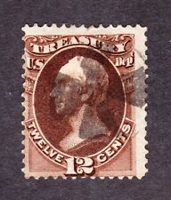 US O78 12c Treasury Department Used w/ Iron Cross Cancel