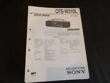 Original Service Manual Sony CF-W310L