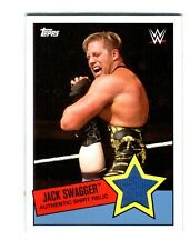 WWE Jack Swagger 2015 Topps Heritage Event Used Shirt Relic Card DWC