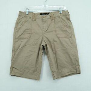 Calvin Klein Jeans Bermuda Shorts Women's Size 10 Beige Brown