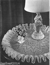 PATTERN CROCHET BRIDAL VEIL TABLE MAT Knitted VINTAGE to make DOILY PATRON Table