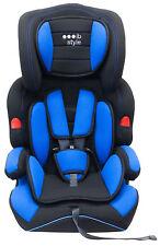 Autokindersitz Gruppe I / II / III - Blau - Mitwachsend, 5-Punkt-Gurt Kindersitz