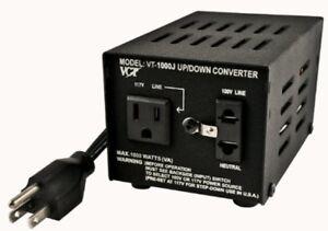 VCT VT-1000J - Japanese Step Up/Down Voltage Transformer Converts Japan 100 Volt