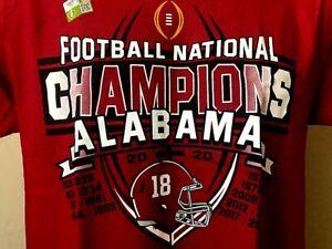 Alabama Crimson Tide 2021 Championship Two Sided Shirt Size M NEW