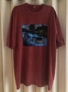 Crazy Shirts Red Paradise Dyed B. Kliban Stream Cats T-Shirt Size 2XL NWOT
