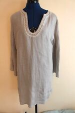 BNWOT The White Company Grey Linen Beach Dress Size Small RRP £85 Cover Up