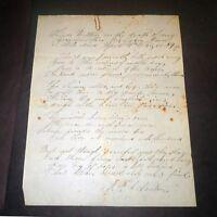 Signed Newton Document Speech Circa 1823 - FUNERAL EULOGY TO GRANDMOTHER