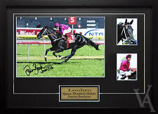 LONHRO HORSE RACING DARREN BEADMAN SIGNED AND FRAMED POSTER PHOTO MEMORABILIA