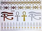 Flash Disposable Temporary Adhesive Tattoo Gold Silver 7 Pieces Bracelet