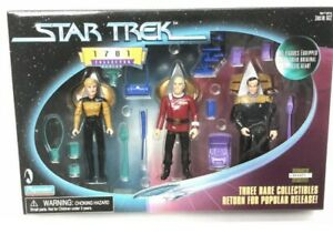 Playmates Toys Star Trek Tng Next Generation 1701 Rare Set Picard Yar Barclay...