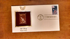 2003 Old Glory Uncle Sam First Day Issue Replica 22kt Gold Golden Cover Stamp