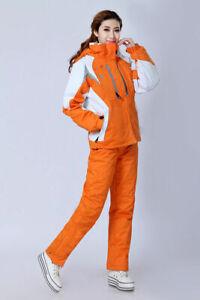 Women Ski Suit Jacket+Pants Warm Set Thermal Snowboard Snowsuit Set