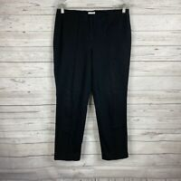 J. Jill Women's Slim Straight Leg Ankle Pants Size 8 Black Cotton Blend