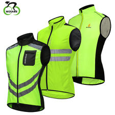 Hi Viz Cycling Vest Waistcoat Reflective Windbreak Lightweight Biker Jacket Tops