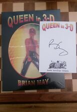 Queen in 3-D SIGNED Brian May Hardback 2017 SEALED 1st edition 1st impression