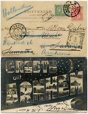 MALAYA DWI POST AGENT PMK 1904 on PPC SABANG SUMATRA from NETHERLANDS + RETURNED