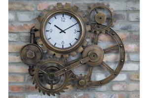 Industrial Cog Clock, Wall Feature Metal Detail